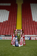 Photoshoot of the English League One Trophy at Bramall Lane Stadium, Sheffield. Picture date: April 17th 2017. Pic credit should read: Simon Bellis/Sportimage
