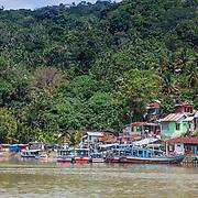 A few of Padang's local fishing canoes. Traveling Kandui, Mentawais Islands, Indonesia March  19, 2013.