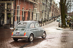 Vintage car in Jordaan, Amsterdam. 01/03/16. Photo by Andrew Tallon