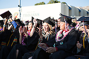 The Cal Hills Class of 2012 celebrates the closing of graduation on June 15, 2012, held at Milpitas High School, Milpitas, Calif.  Photo by Stan Olszewski/SOSKIphoto.