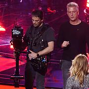 NLD/Hilversum/20190201- TVOH 2019 1e liveshow, Mark Kriek geeft aanwijzingen aan Wendy van Dijk