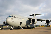 C17 transport plane at RAF Brize Norton in Oxfordshire, United Kingdom