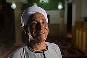 A portrait of Abdul Latif Ahmed Abdul Rahim, the Imam of Abu el-Haggag mosque, Luxor, Nile Valley, Egypt.