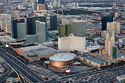 Aerial view of T-Mobile Arena on the Strip, Las Vegas, Nevada, USA