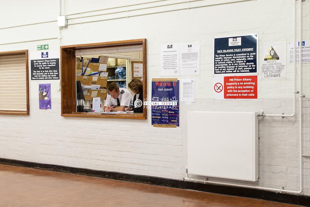 Prisoners' personal effects in storage, UK prison