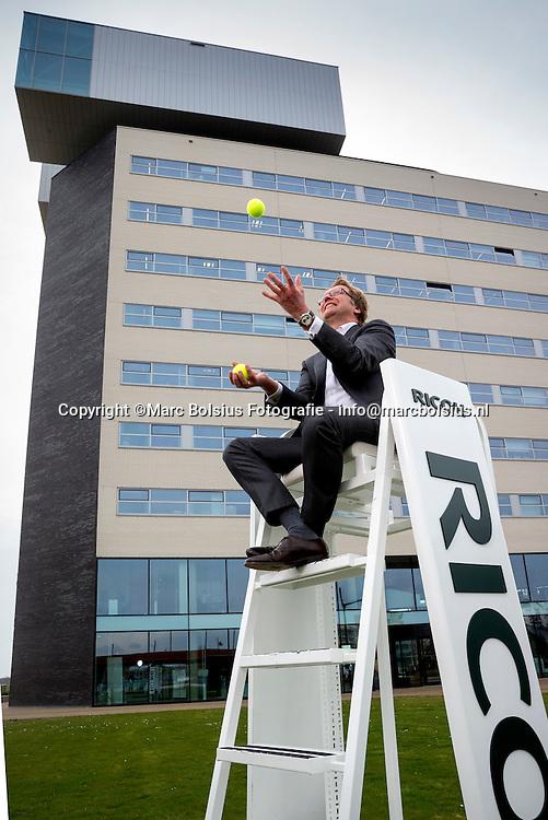 Nederland,  Den Bosch, De Ondernemer,Rubriek Teamwork, ceo van Ricoh, hoohdsponsor van het tennistoernooi in Rosmalen Mark Boelhouwer.