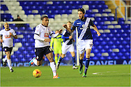 Neil Danns, Will Buckley during the Sky Bet Championship match between Birmingham City and Bolton Wanderers at St Andrews, Birmingham, England on 23 February 2016. Photo by Daniel Youngs.