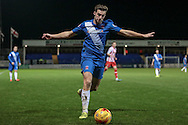 Lewis Hawkins (Hartlepool United) about to cross the ball during the Sky Bet League 2 match between Hartlepool United and Stevenage at Victoria Park, Hartlepool, England on 9 February 2016. Photo by Mark P Doherty.