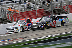 February 23, 2019 - Hampton, GA, U.S. - HAMPTON, GA - FEBRUARY 23:   #17: Anthony Alfredo, DGR-Crosley, Toyota Tundra Ceco Building Systems fights for position with #22: Austin Wayne Self, AM Racing, Chevrolet Silverado GO TEXAN/JB Henderson Construction during the 11th running of the Ultimate Tailgating 200 NASCAR Gander Outdoors Truck Series race on February 23, 2019 at the Atlanta Motor Speedway in Hampton, GA.  (Photo by David J. Griffin/Icon Sportswire) (Credit Image: © David J. Griffin/Icon SMI via ZUMA Press)