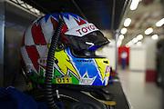 29th October - 1st November 2015. World Endurance Championship. 6 Hours of Shanghai.  Shanghai International Circuit, China. Alexander Wurz' helmet