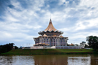 State Legislative Council on the banks of the Kuching River, Sarawak.