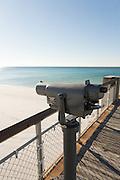 A view scope on the Okaloosa Island Pier along Fort Walton Beach, Florida.
