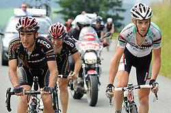 05.07.2010, AUT, 62. Österreich Rundfahrt, 2. Etappe, Landeck-Kitzbüheler Horn, im Bild v.l. Sergio Pardilla (ESP, Carmiooro NGR), Emanuele Sella (ITA, Carmiooro NGR), Riccardo Ricco (ITA, Ceramica Flaminia), EXPA Pictures © 2010, PhotoCredit: EXPA/ S. Zangrando / SPORTIDA PHOTO AGENCY