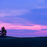 Dramatic sunset in Wind Cave National Park in South Dakota.