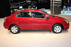 11 February 2009:  2009 NISSAN SENTRA: Year-in and year-out, Nissan?s Sentra sedans offer moderate price seeking customers comfortable accommodations and enough options to keep things interesting and the price from getting out of hand. For ?09 Sentra ads auto door locks, MP3 playback, a second 12V power outlet and a bit of a rear decklid lift. Standard is a 2.0 liter 140-hp four and Nissan?s Xtronic Continuously Variable Transmission. Six airbags are standard including side curtain supplemental units. Options include Intelligent Key keyless entry and ignition, Bluetooth phone system and Rockford Fosgate audio system with an in-dash 6-CD changer. Sentra?s cabin includes a 60/40 split double-fold rear seat, available hidden trunk storage compartment and available integrated overhead compact disc holder.. The Chicago Auto Show is a charity event of the Chicago Automobile Trade Association (CATA) and is held annually at McCormick Place in Chicago Illinois.