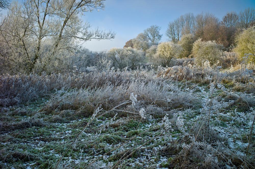 Winter scene hoar frost in The Cotswolds, UK