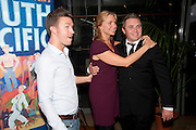 SAM DOWLER; SAMANTHA WOMACK; ALEX FERNS, South Pacific First night party. The Barbican. London. 23 August 2011. <br /> <br />  , -DO NOT ARCHIVE-© Copyright Photograph by Dafydd Jones. 248 Clapham Rd. London SW9 0PZ. Tel 0207 820 0771. www.dafjones.com.