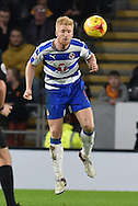 Paul McShane Reading FC  during the Sky Bet Championship match between Hull City and Reading at the KC Stadium, Kingston upon Hull, England on 16 December 2015. Photo by Ian Lyall.