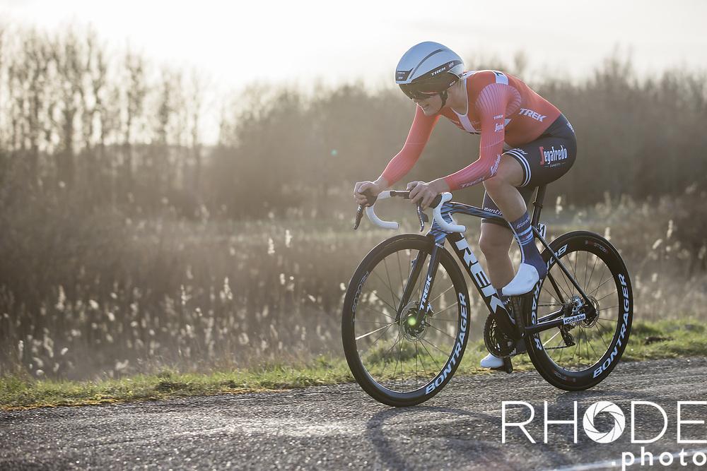 Amalie Dideriksen (DEN/Trek Segafredo)<br /> <br /> Healthy Ageing Tour (NED) 2021<br /> UCI Women Elite 2.1<br /> Stage 2 : Individual Time Trial (ITT) – Lauwersoog – Het Hoogeland 14.4km<br /> <br /> ©RhodePhoto