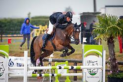 Vinckx Wim (BEL) - Jasmijn vande Renthoeve<br /> SBB Competitie Jonge Paarden - Nationaal Kampioenschap - Kieldrecht 2014<br /> © Dirk Caremans