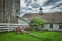 Silo and barn at Hancock Shaker Village.
