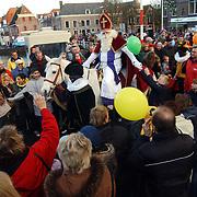 Aankomst Sinterklaas Weesp 2004, publiek, slinger, versiering, paard, Americo,