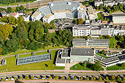 Nederland, Gelderland, Arnhem, 30-09-2015; stationsgebied Arnhem, Utrechtseweg en Utrechtsestraat. Aan het spoor kantoor Nuon, ArtEz hogeschool voor de kunsten (voorgrond).<br /> Arnhem Art axes with Museum for modern art and Art School<br /> luchtfoto (toeslag op standard tarieven);<br /> aerial photo (additional fee required);<br /> copyright foto/photo Siebe Swart