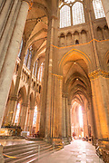 Interior of Cathedral of Notre-Dame in Reims, France