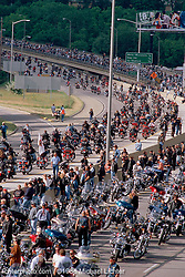 Milwaukee Cool, Harley's 95th Reunion, WI, 1998<br /> <br /> Limited Edition Print from an edition of 15. Photo ©1996 Michael Lichter.
