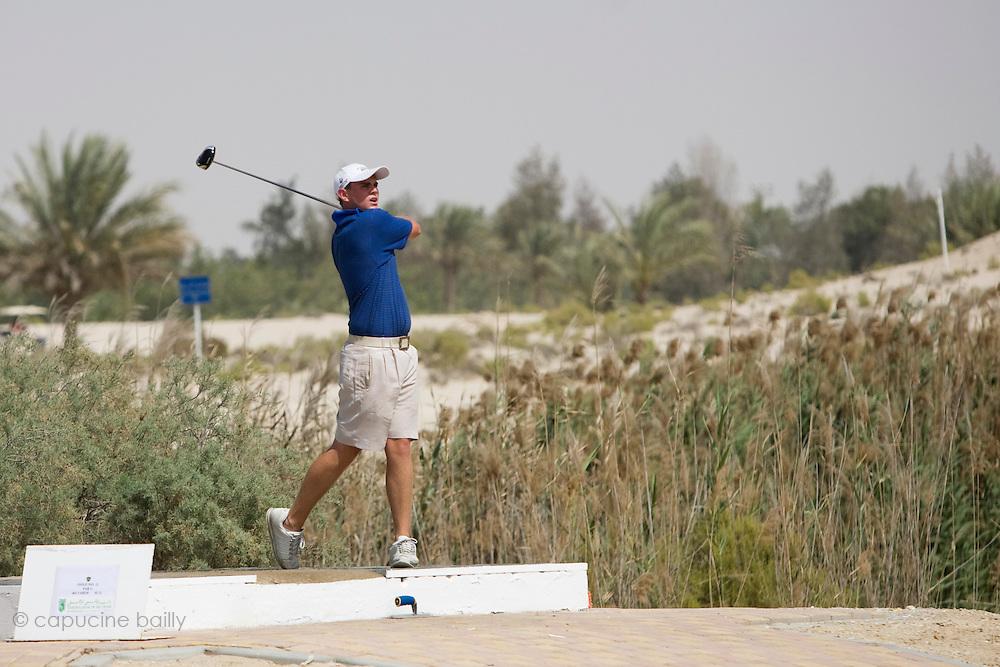 Abu Dhabi, United Arab Emirates (UAE). March 20th 2009.<br /> Al Ghazal Golf Club.<br /> 36th Abu Dhabi Men's Open Championship.<br /> Mathew Turner