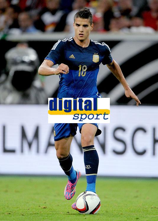 Fotball<br /> Tyskland v Argentina<br /> Privatlandskamp<br /> 03.09.2014<br /> Foto: Witters/Digitalsport<br /> NORWAY ONLY<br /> <br /> Erik Lamela (Argentinien)<br /> Fussball, Testspiel, Deutschland - Argentinien 2:4
