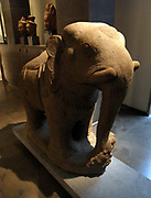 Elephant In The sandstone sculpture in the Bayon style. (late 12th-early 13th century) Preah Damrei (temple) Cambodia