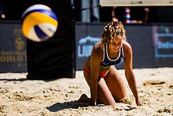 Monika Potokar of Slovenia during Beach Volleyball World Tour in Ljubljana 2020, on August 1, 2020 in Kongresni trg, Ljubljana, Slovenia. Photo by Grega Valancic / Sportida