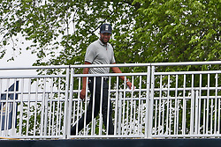 May 19, 2019 - Bethpage, New York, United States - Tony Finau walks off the 18th green after the final round of the 101st PGA Championship at Bethpage Black. (Credit Image: © Debby Wong/ZUMA Wire)