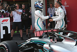 May 13, 2018 - Barcelona, Catalonia, Spain - Lewis Hamilton and Valtteri Bottas, team Mercedes, during the GP Spain F1, on 13th May 2018 in Barcelona, Spain. (Credit Image: © Joan Valls/NurPhoto via ZUMA Press)