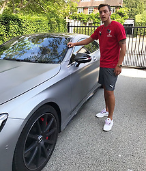 """Mesut Oezil releases a photo on Twitter with the following caption: """"""""Last day in #London before our trip to #Australia 🇦🇺🐨 #COYG"""""""". Photo Credit: Twitter *** No USA Distribution *** For Editorial Use Only *** Not to be Published in Books or Photo Books ***  Please note: Fees charged by the agency are for the agency's services only, and do not, nor are they intended to, convey to the user any ownership of Copyright or License in the material. The agency does not claim any ownership including but not limited to Copyright or License in the attached material. By publishing this material you expressly agree to indemnify and to hold the agency and its directors, shareholders and employees harmless from any loss, claims, damages, demands, expenses (including legal fees), or any causes of action or allegation against the agency arising out of or connected in any way with publication of the material."""