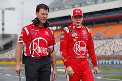 May 26, 2018 - Concord, North Carolina, United States of America - Christopher Bell (20) hangs out on pit road before qualifying for the Alsco 300 at Charlotte Motor Speedway in Concord, North Carolina. (Credit Image: © Chris Owens Asp Inc/ASP via ZUMA Wire)