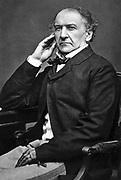 William Ewart Gladstone (1809-1898) British Liberal statesman. Photograph.