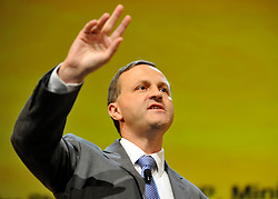 © Licensed to London News Pictures. 20/09/2011. BIRMINGHAM, UK.  Steve Webb MP Minister for pensions makes a speech at the Liberal Democrat Conference at the Birmingham ICC today (20 Sept 2011): Stephen Simpson/LNP . Photo credit : Stephen Simpson/LNP