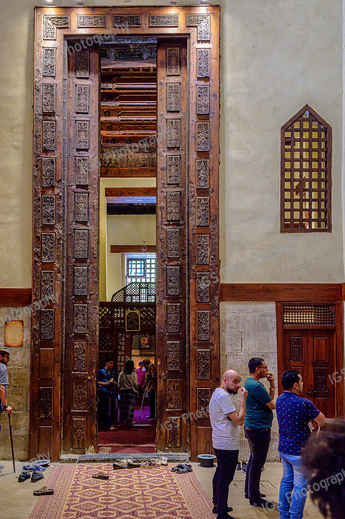 This huge door measuring almost 7.6 m high is one of the rarest wooden doors in the world. The door leads to the interior compartment of the chapel of St. George located in the Convent