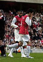 Photo: Olly Greenwood.<br />Arsenal v Newcastle United. The Barclays Premiership. 18/11/2006. Arsenal's Cesc Fabregas goes close