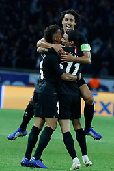 PSG's Angel Di Maria joy after scoring the 2-2 goal during the Group stage of the Champion's League, Paris-St-Germain vs Napoli in Parc des Princes, Paris, France, on October 24th, 2018. PSG and Napoli drew 2-2. Photo by Henri Szwarc/ABACAPRESS.COM