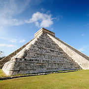El Castillo (also known as Temple of Kuklcan) at the ancient Mayan ruins at Chichen Itza, Yucatan, Mexico 081216093256_4443.NEF