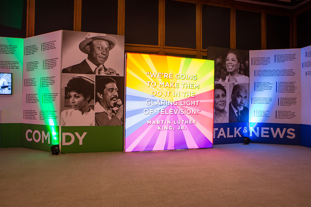 An exhibit of African-American achievements in television at the Paley Center for Media in New ork.