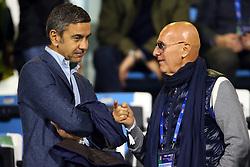 BILLY COSTACURTA E ARRIGO SACCHI<br /> CALCIO AMICHEVOLE ITALIA - MAROCCO U21