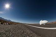 De Vortex op de zesde racedag van de WHPSC. In de buurt van Battle Mountain, Nevada, strijden van 10 tot en met 15 september 2012 verschillende teams om het wereldrecord fietsen tijdens de World Human Powered Speed Challenge. Het huidige record is 133 km/h.<br /> <br /> The Vortex on the sixth day of the WHPSC. Near Battle Mountain, Nevada, several teams are trying to set a new world record cycling at the World Human Powered Vehicle Speed Challenge from Sept. 10th till Sept. 15th. The current record is 133 km/h.