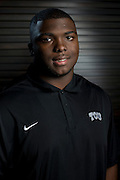 DALLAS, TX - JULY 21:  TCU defensive tackle Chucky Hunter poses for a portrait during the Big 12 Media Day on July 21, 2014 at the Omni Hotel in Dallas, Texas.  (Photo by Cooper Neill/Getty Images) *** Local Caption *** Chucky Hunter