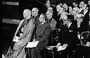 Inaugeration of Cearbhall O'Dalaigh as President  (H77).1974..19.12.1974..12.19.1974..19th December 1974..Following the sudden death of President Erskine Childers, Mr Cearbhall O'Dalaigh was nominated by The Fianna Fail party as its candidate to replace him. The Fine Gael /Labour coalition government did not oppose the nomination and Mr O'Dalaigh was elected un-opposed on a joint party agreement...Members of the various religious congregations of Ireland, pictured, at the inaugeration of Cearbhall O'Dalaigh as president.