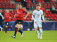Damien Da Silva of Stade Rennais, Timo Werner of Chelsea during the UEFA Champions League, Group E football match between Stade Rennais and Chelsea on November 24, 2020 at Roazhon Park in Rennes, France - Photo Jean Catuffe / ProSportsImages / DPPI