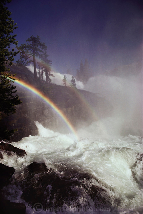 Rainbow at Waterwheel Falls on the Tuolumne River in Yosemite National Park, California. 1980